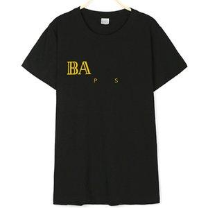 맨즈 T 셔츠 여름 패션 캐주얼 OFF 블랙스럽고 하얀 짧은 소매면 셔츠 남여 여자 문자 인쇄는 티 S-XXL # 961 탑