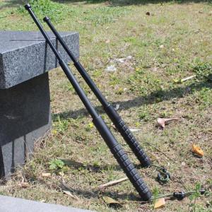 63cm protección de plástico de la PC de tres secciones palanca telescópica aparatos supervivencia al aire libre de trekking polo de emergencia táctica de autodefensa wi roto