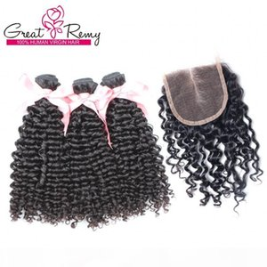 100% Unprocessed Virgin Indian Malaysian Peruvian Hair With 1pc top Closure (4*4) Hairpiece Curly Wave Middle Part Hair Extension Dyeable