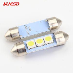 100X 12V C5W 3 SMD LED 전구 차가운 흰색 꽃줄 실내 돔 자동차 LED 자동차 램프 주차 Light31 / 39분의 36 / 41mm