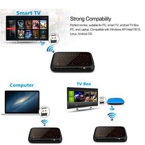 Kablosuz Klavye Tam Touchpad Mini İngilizce Hava Fare Uzaktan Kumanda 2.4 GHz Akıllı Android TV KUTUSU PC Için Aydınlatmalı Laptop