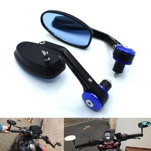 """7/8"""" 22mm motocicleta universal espejos retrovisores manija extremo de la barra lateral retrovisor Espejos Para YZFR6S CANADÁ VERSIÓN YZF R6S"""