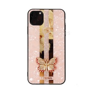 Pro For Iphone 11 Max Case Luxury Designer Phone Cases With Diamond Shell Pattern Butterfly Girl With Packing Free Shipping