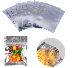 파우치 열 인감 보관 가방 포장 8 * 11cm 전면 투명 플라스틱 실버 알루미늄 호일 포장 가방 반투명 마일 라 (Mylar)