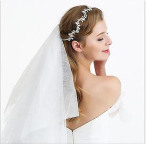 Головной убор невесты с жемчужным поясом ручной работы для трансграничных свадебных нарядов в Европе и Америке