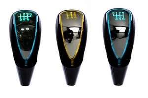 7 colors changes Activated Gear Shift Knob 5 6 Speed Car LED Gear Handball Knob Light Cigarette Lighter Charger Fit For