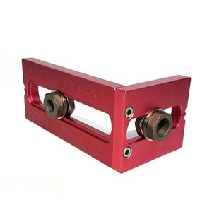 Carpintaria bolso orifício do parafuso Jig Brocas Set cruz oblíqua Parafuso de Cabeça Chata Puncher Bed Gabinete Puncher Locator