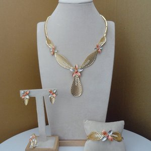 Joyería de moda africana Yuminglai Establece vestuario Dubai FHK7793 joyería