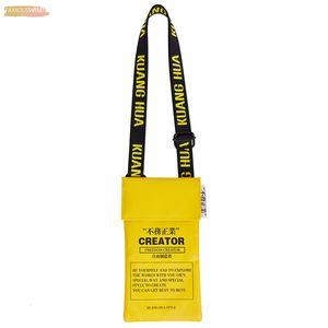 Original Design Letters Print Mobile Phone Bag Pu Mini Slung Small Bag Female Street Shoulder Bag Messenge Bags Handbags