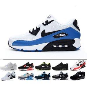 2019 Erkek Ayakkabı Klasik 90 Erkek ve kadın Ayakkabı Eğitmen Hava Yastığı Yüzey Rahat Ayakkabılar 36-45 DD475