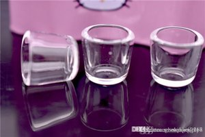 2 Estilo Puffco Pico cuarzo Insertar recipiente transparente 100% de cuarzo grueso para el pico puffco fumar inserto modificado para requisitos particulares