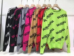 2019 de alta qualidade camisola de moda manga longa pullover sweater sweater mistura de lã de moda fina clothing0755508788 das mulheres high-end