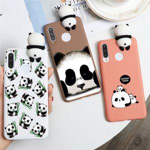 Fashion Panda Cute Silicone Case For Huawei P20 P30 P40 Lite Pro P Smart Plus 2019 Nova 3 3i 5 5i 6 SE Pro Cartoon Phone Cases