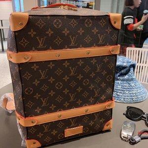 Venda Marcas novo estilo de moda de couro M44752 SOFT TRONCO homens mulheres mochila de luxo designer bolsa de alta qualidade frete grátis Sacos