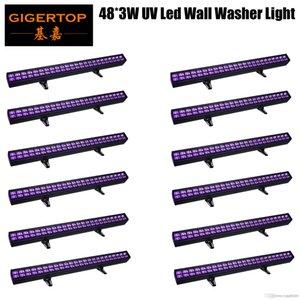 Gigertop TP-W4803 Nouveau Conçu 12XLOT DMX moulage en aluminium die boîtier 48 * UV 3W IP20 Wall Washer Light Bar