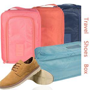 Sólido calzado resistente al agua bolsa de viaje plegable del zapato bolsa de almacenamiento Zapatos bolsas de mano Ropa Organizador de gran capacidad de almacenamiento caja de la bolsa VT1655
