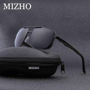 Utilizzare gli occhiali da sole polarizzati Men Square alluminio magnesio IP vuoto MIZHO Marca visiva viaggio placcatura UV400 Polaroid 2020