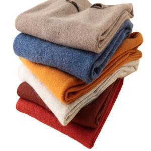 Longming 100% laine mérinos d'hiver Pull en cachemire à col roulé Pull femme Vêtements d'hiver Femmes Pull en maille Pull V191130