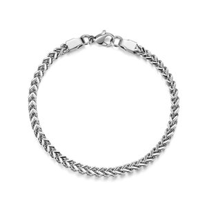 New Arrival 316L Titanium Steel 4MM 6MM Front and Back Chain Bracelet Fashion Cool Men's Jewelry Christmas Gift drop shipping