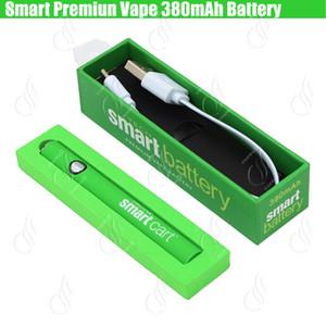 Новый Smart Cart Органический Премиум Аккумулятор Vape 380 мАч Разогрев VV Переменное напряжение Нижнее USB Зарядное устройство SmartCart 510 Густое масло и сигареты Картридж