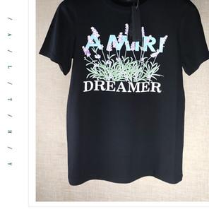Летние дизайнерские цветы с коротким рукавом Мужчины Женщины популярный логотип свободные повседневные мужские женские Модные хлопчатобумажные футболки высокое качество печати тройники XS-2XL