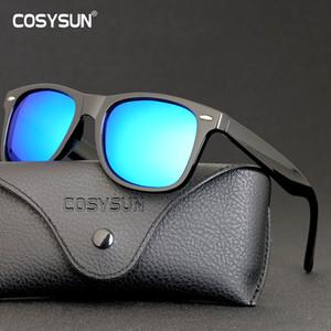 COSYSUN Retro Sonnenbrillen Brillen arbeiten Weinlese-Frauen der Männer polarisierte Sonnenbrille Driving Mirrored UV400 2140