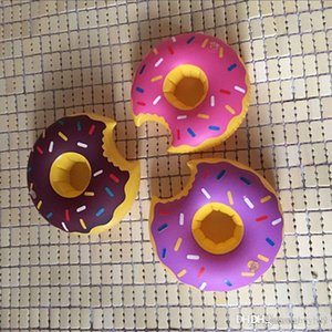Inflatable Donut Coasters Drink Holder Lovely Donut Swim Float For 12 oz Sodas at Your Beach Party
