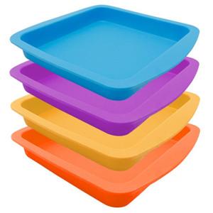 """Пример Силикон Deep Dish Пан 8"""" Квадрат Большой антипригарным силиконовый концентрат масла BHO контейнеры Силиконовые Лоток"""