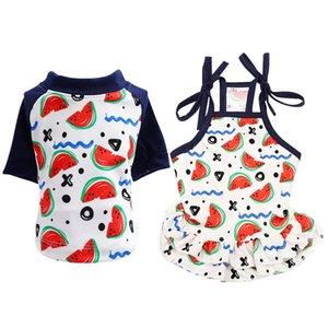 Pet primavera-estate fredda Costume, imbracatura fredda Skirt / 2-gamba manica corta Dress For Dogs