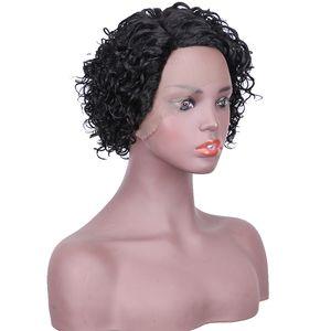 Classical Blue wet and wavy human hair wigs ombre short wigs Brazilian Virgin Hair Human Wigs kinky curly afro Hairline Brazilian