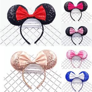 유럽과 AmericanFull 마우스 머리띠 반짝이 나비 헤어 액세서리 어린이 귀 헤어 카드 높은 품질을 반짝이