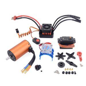 ZD Racing 1:10 جهاز التحكم عن بعد سيارة ماء 60A فرش ESC و 3650 موتور 9 كيلوجرام