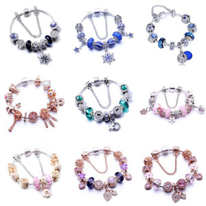 Top Quality 925 Sterling Alloy Bracelet Essence Collection Beaded Bracelet Bangle Fit Women Bead Charm Diy Europe Jewelry#369