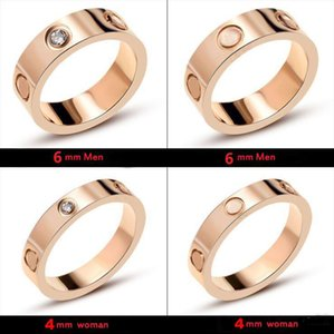 Con insignia y la caja original tornillos destornillador anillos del diseñador para hombre y mujeres amantes de compromiso de la boda del partido par de joyas de lujo de regalo