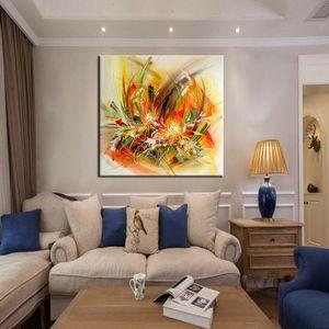 1-0035 # gerahmt Unframed Blumen-Auszug Messer Malerei Wohnkultur Handwerk / HD-Druck-Ölgemälde auf Leinwand-Wand-Kunst-Leinwandbilder 200