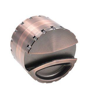 Grande 527g de aleación de zinc metal fumadores Grinder Diámetro 80MM 4pcs dientes de la hoja con el sostenedor del metal de cigarrillos de tabaco molinillo de especias trituradora