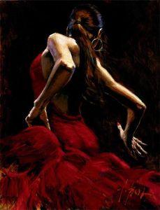 -ss-03166 Fabian Perez Dancer Red pintado à mão Artesanato pintura a óleo HD Imprimir Pintura a óleo Art On Canvas Wall Pictures