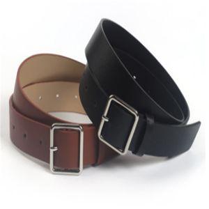 2020 New Designer Black Wide Leather Belt Waistband Female Vintage Square Pin Buckle Waist Belts For Women Dresses