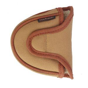 Tourbon Golf Accessories Vintage Golf Mallet Putter Head Cover Closure Golf Head cover Khaki Canvas & Fleece Protector