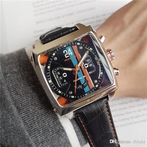 TAG di alta qualità meccanica uomini orologio automatico di lusso dell'orologio quadrato sport del Mens gomma orologio famoso stilista orologi meccanici