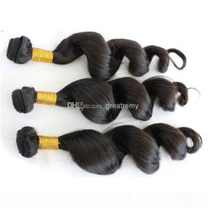 8-30 inch 100% European Hair 3pcs lot Remy Human Hair Weave Wavy Loose Wave Greatremy Drop Shipping Natural Color Dyeable virgin hair