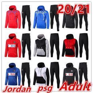 2020 2021 new paris jacket hoodies chandal futbol men soccer jacket hoodie 2020 21 mens football tracksuit training suit survetement foot