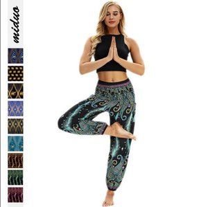 Men Women Casual Loose Hippy Yoga Pants High Quality Trousers Printing Baggy Boho Aladdin Harem Pants Deportivas Mujer*0.9 GD228