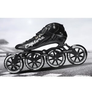Скорость Инлайн Коньки Carbon Fiber гонки на коньках Patines Professional 4 * 100 / 110мм конкурс Коньки 4 колеса Hot Sale