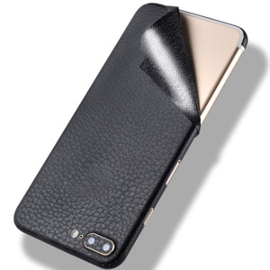 Simulation Leather Sticker Cover for iPhone XS Max XR X 8 7 6 Plus Shell Protective Ultra-thin PVC Retail Package