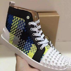 2020 vendita calda giovane studente Uomo Donna top high-top hip-hop Scarpe lustro trainer Outdoor Casual laccio Box