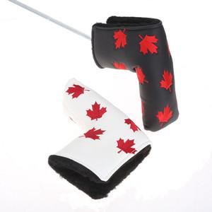 Kanada Flagge Golf Putter Head Cover Ahornblatt Golf Cover PU Leder Golf Blade Headcover