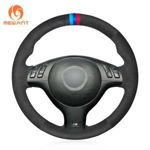 DIY замшевая крышка рулевого колеса для BMW E46 E39 330i 540i 525i 530i 330Ci M3 #BM133