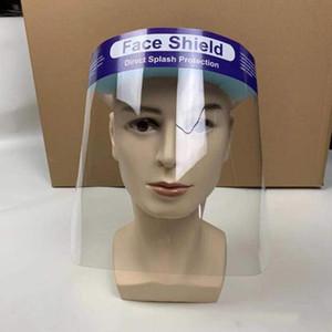 DHL-freies Verschiffen Anti-Fog Face Shield Full Face Maske Isolation Transparent Protective Schutz Prevent Splashing Droplets Großhandel Maske