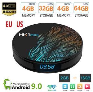 Neu BOX HK1 Max Smart TV Box Android 9.0 4GB 128GB 64GB 32GB Rockchip 4K Wifi Netflix Set-Top-Box Media Player 2GB16GB Android 9